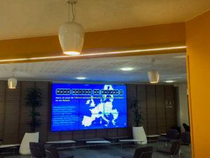 Mur d'image de 9 écrans à la CPAM de la Somme